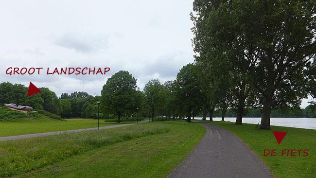 De gestolen fiets kan opgehaald worden bij het Groot Landschap in het Sloterpark aan de Sloterplas