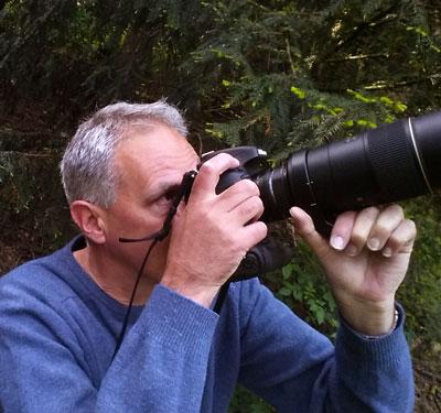 Paul Koene bij de lepelaars in Sloterpark Amsterdam Nieuw-West