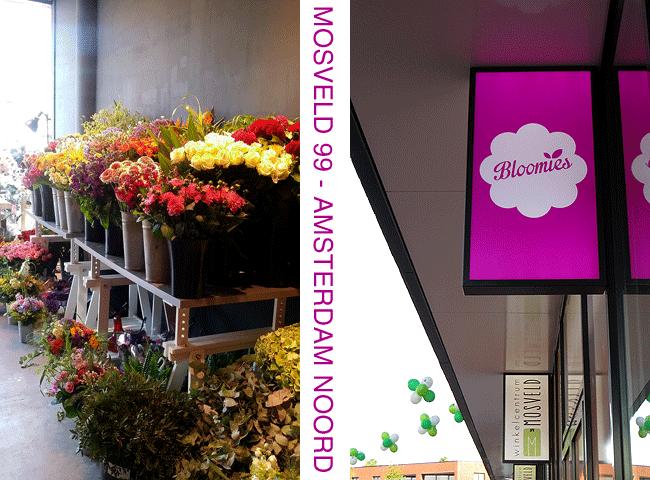 Bloemen koop je bij Bloemenwinkel Bloomies in Winkelcentrum Mosveld (nr. 99)