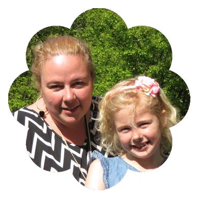 Jolanda's dochter Sanne is het bloemetje in huis!