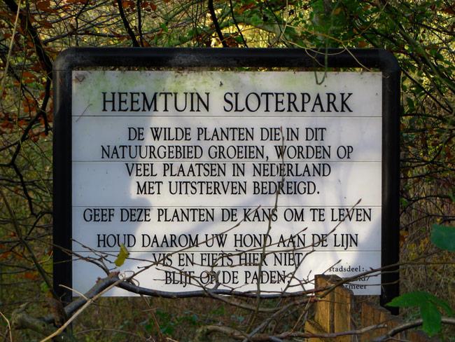 Heemtuin Sloterpark in Amsterdam Nieuw-West