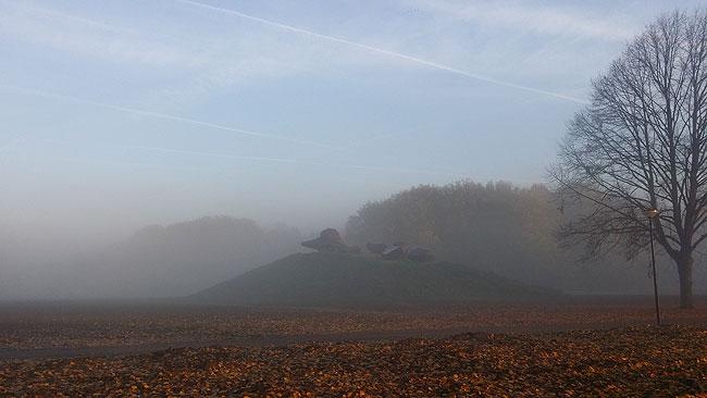 Kunstwerk Groot Landschap in de mist