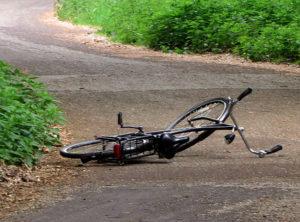 Neergesmeten fiets...